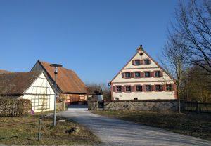 Die Aumühle, Sitz der Museumsleitung des Fränkischen Freilandmuseums